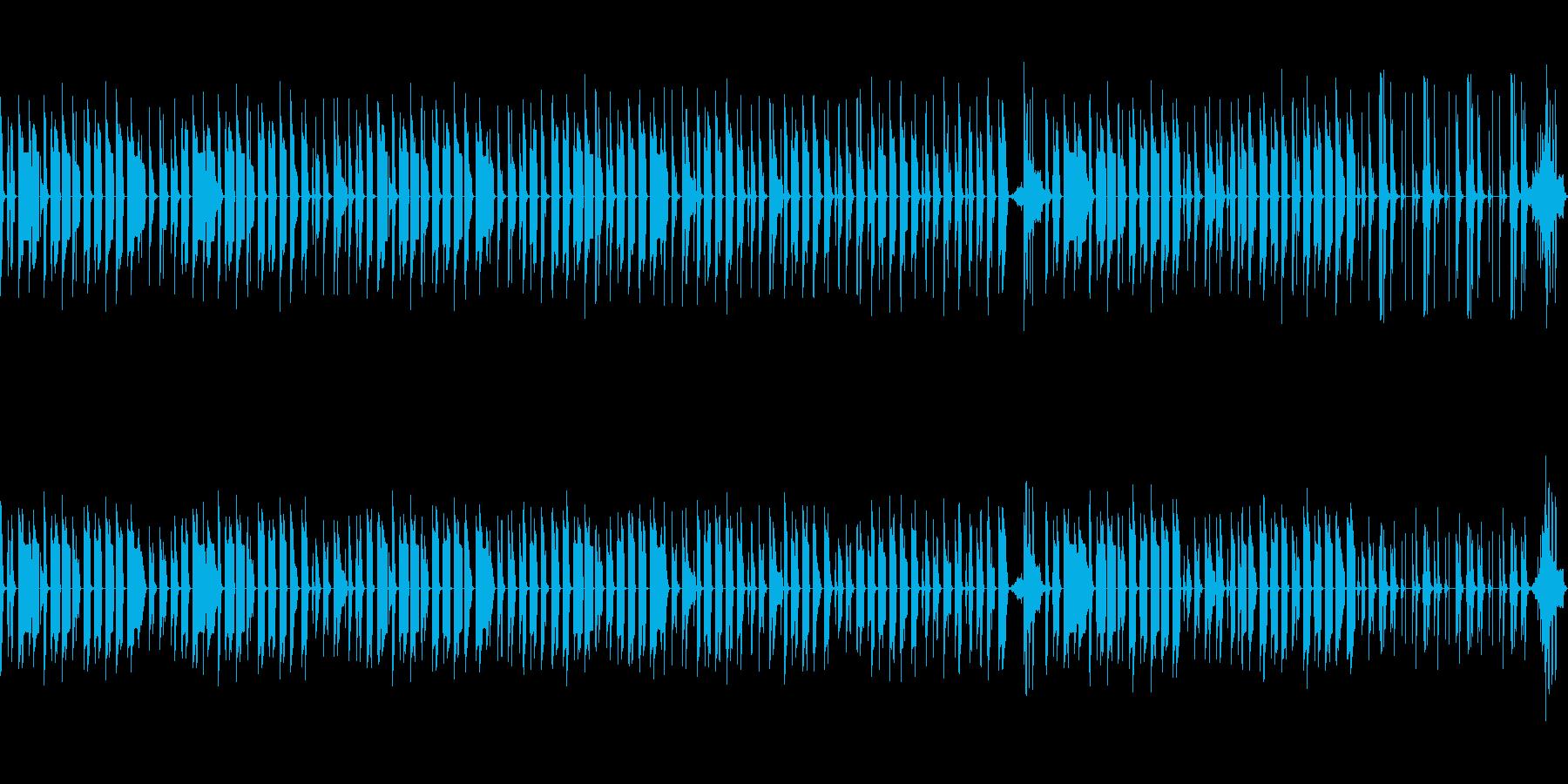 後半が印象的なのんびりBGM(ループ)の再生済みの波形