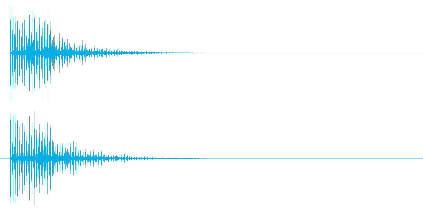 キューン(ビーム音)の再生済みの波形