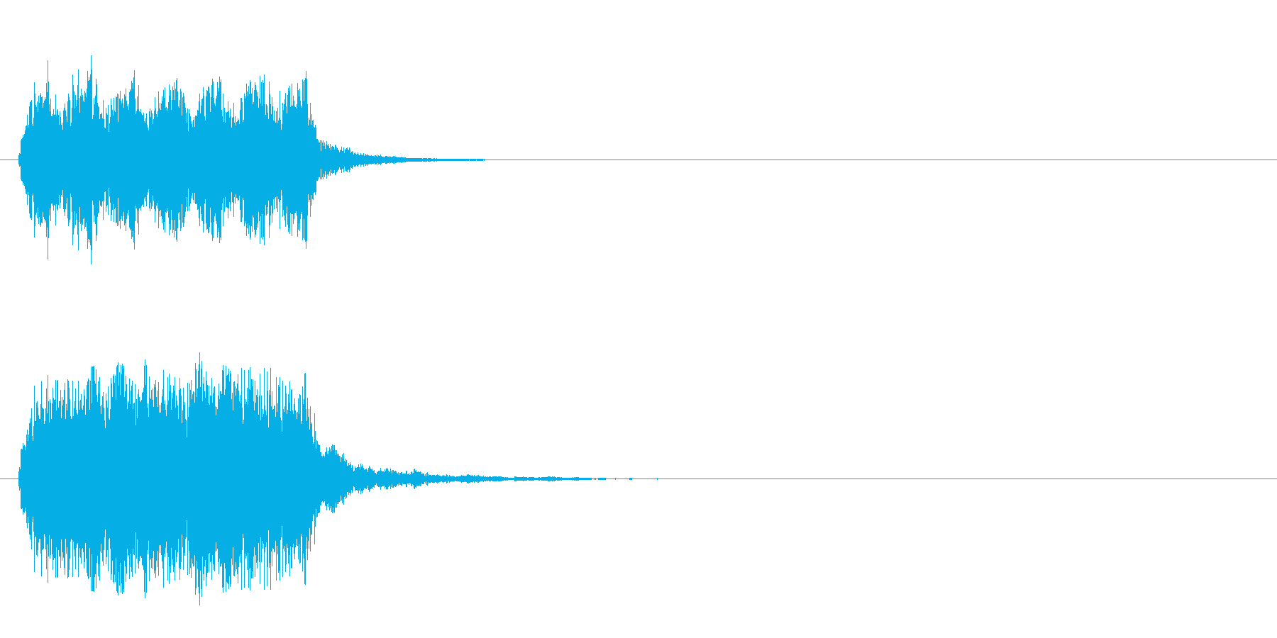 SE系ジングルの再生済みの波形