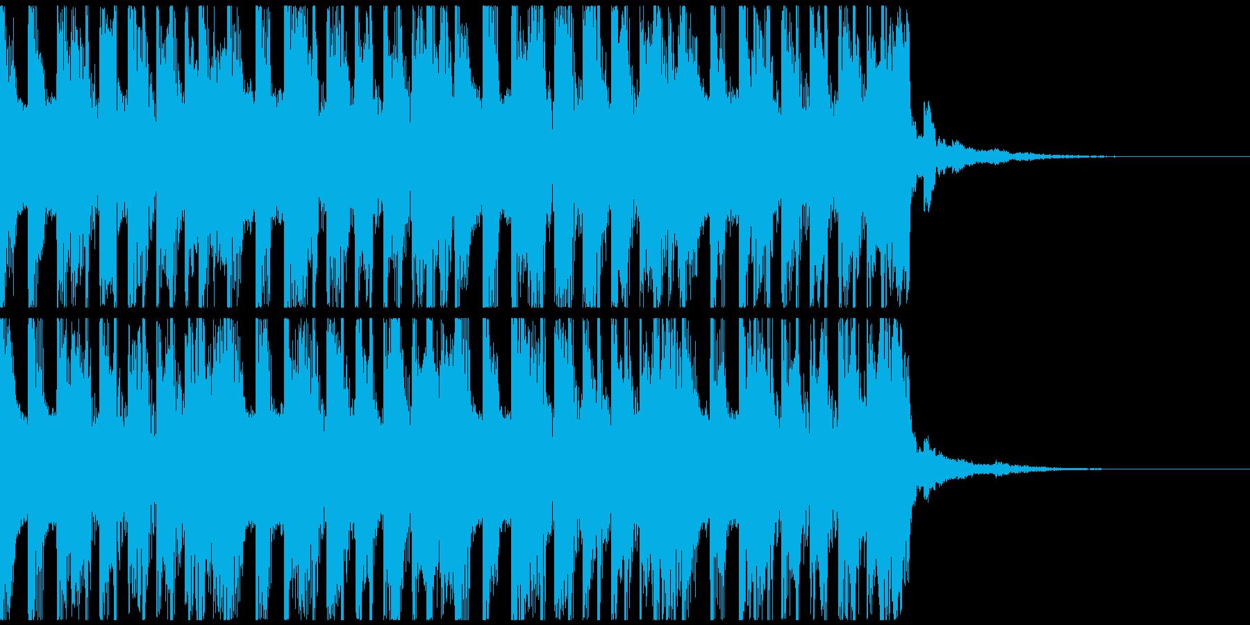 軽快で楽し気なポップビート の再生済みの波形