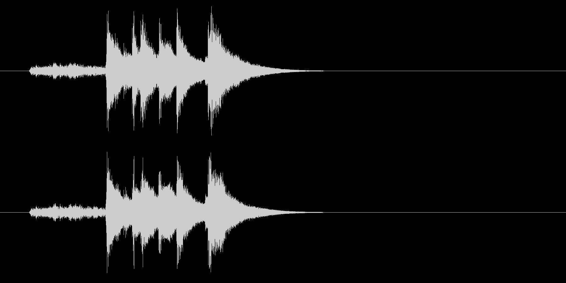 ジングル(和風コミック落ち)の未再生の波形