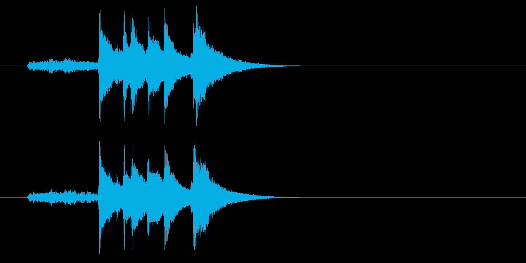 ジングル(和風コミック落ち)の再生済みの波形