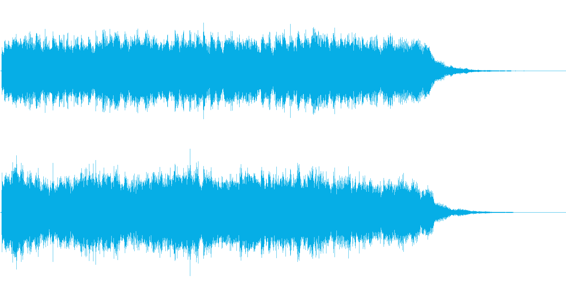 シンセのネオクラシカルなジングル 様式美の再生済みの波形