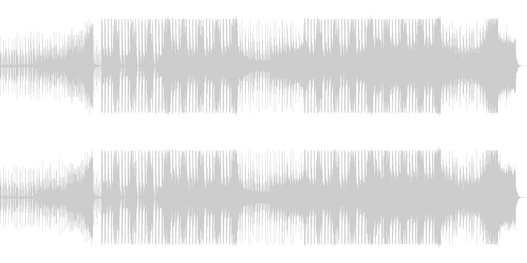 お洒落なアップテンポのテクノポップの曲の未再生の波形