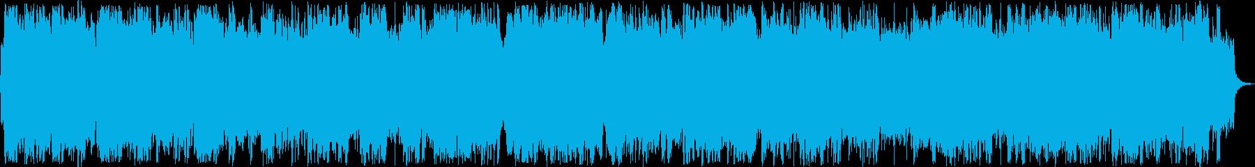 優しい管楽器ピアノシンセサウンドの再生済みの波形