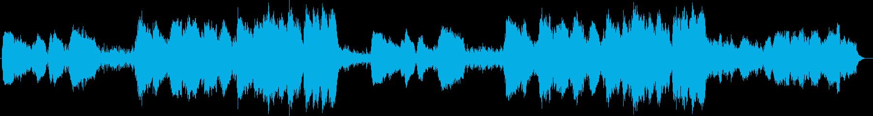 壮大で幻想的で神秘的なシンセサウンドの再生済みの波形
