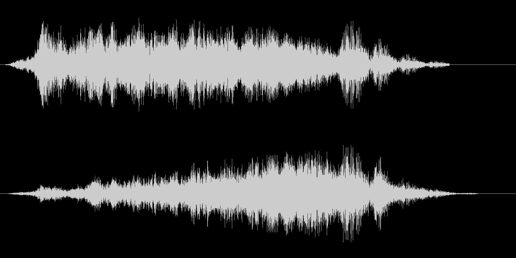 ヒュー、シュパーン(風を切り通過する音)の未再生の波形