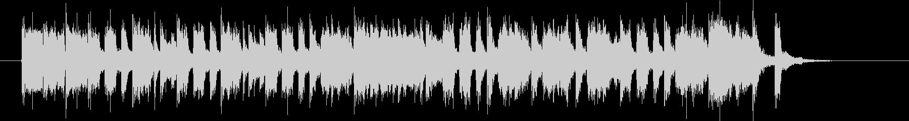 明るくトランペットが印象的なBGMの未再生の波形