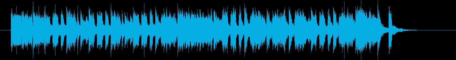 明るくトランペットが印象的なBGMの再生済みの波形