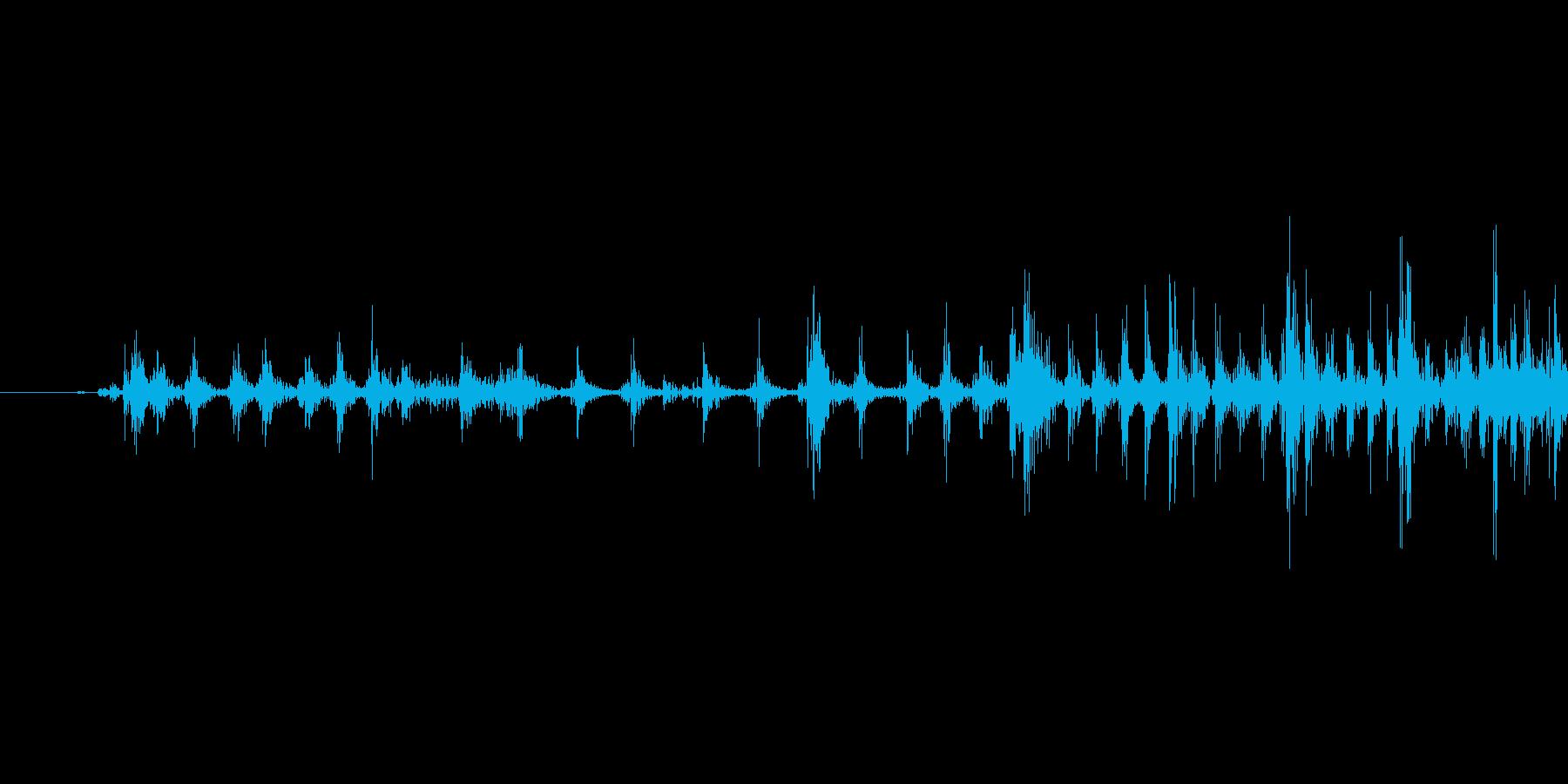 ゲームの効果音 3の再生済みの波形