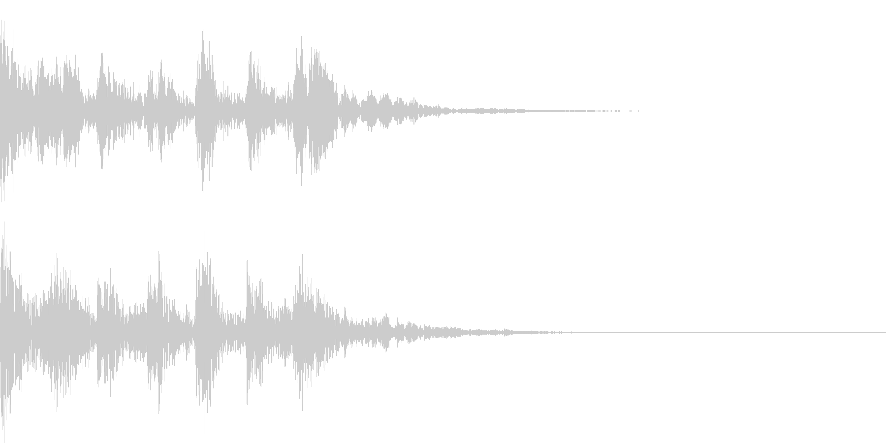 ピチカートに寄る短いジングル1の未再生の波形