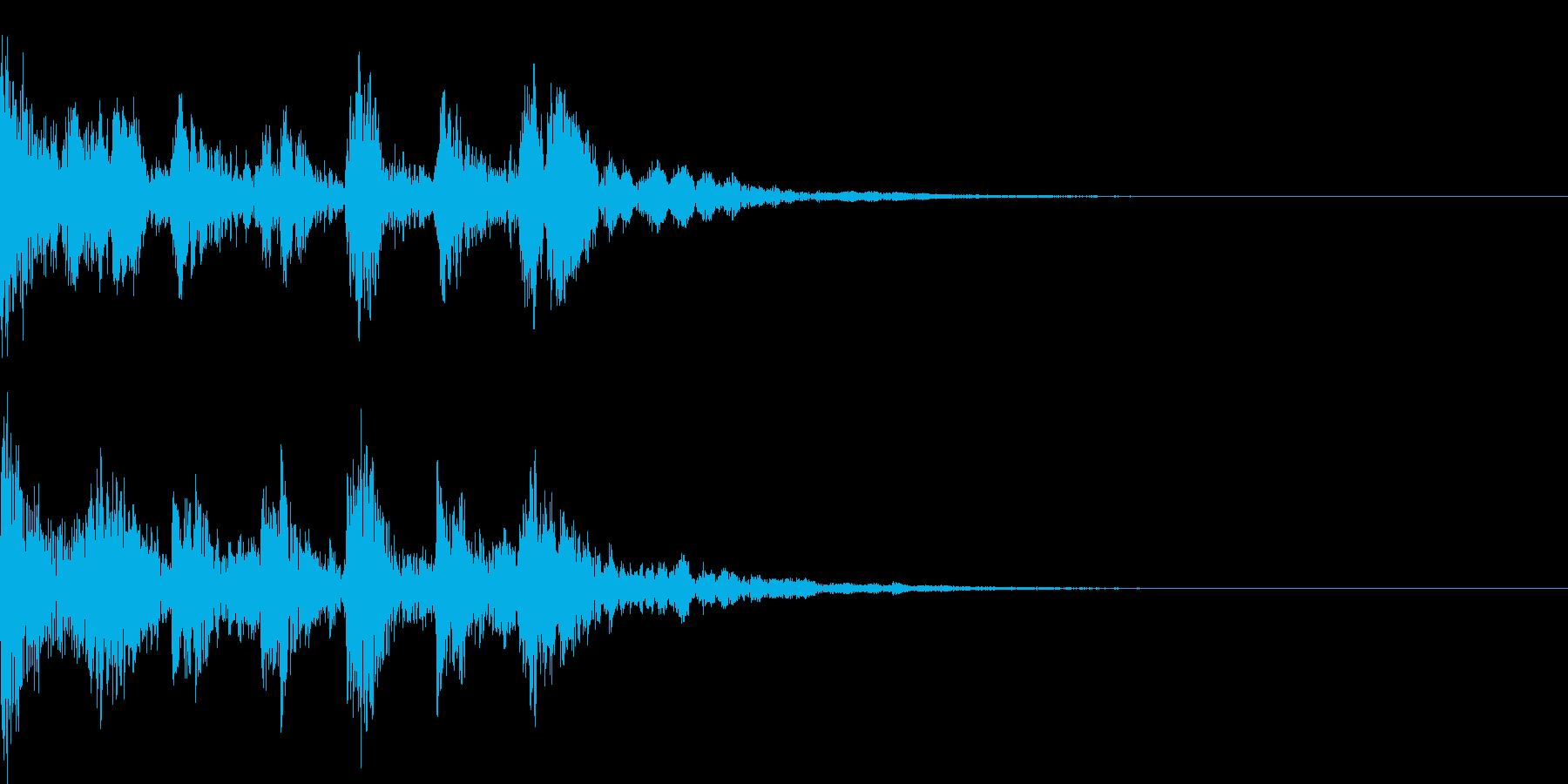ピチカートに寄る短いジングル1の再生済みの波形