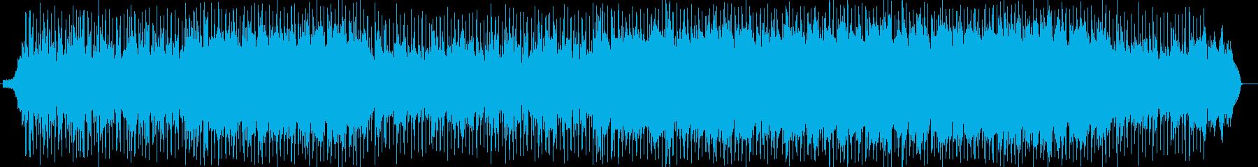 シンセで宇宙を感じる四つ打ちポップスの再生済みの波形