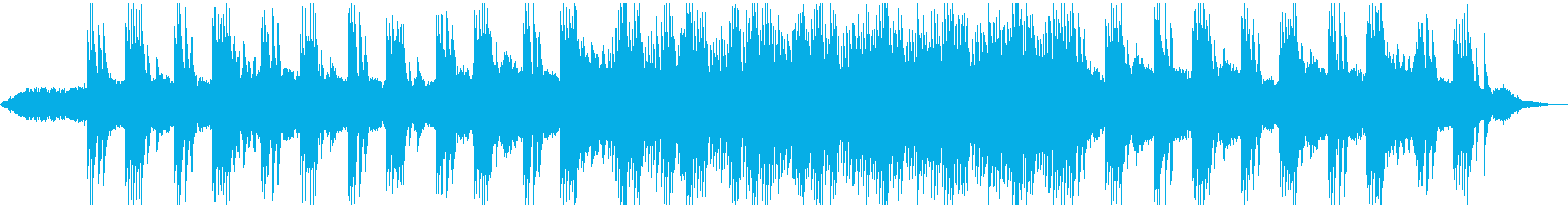 ホラー、ミステリー、サスペンス系BGMの再生済みの波形