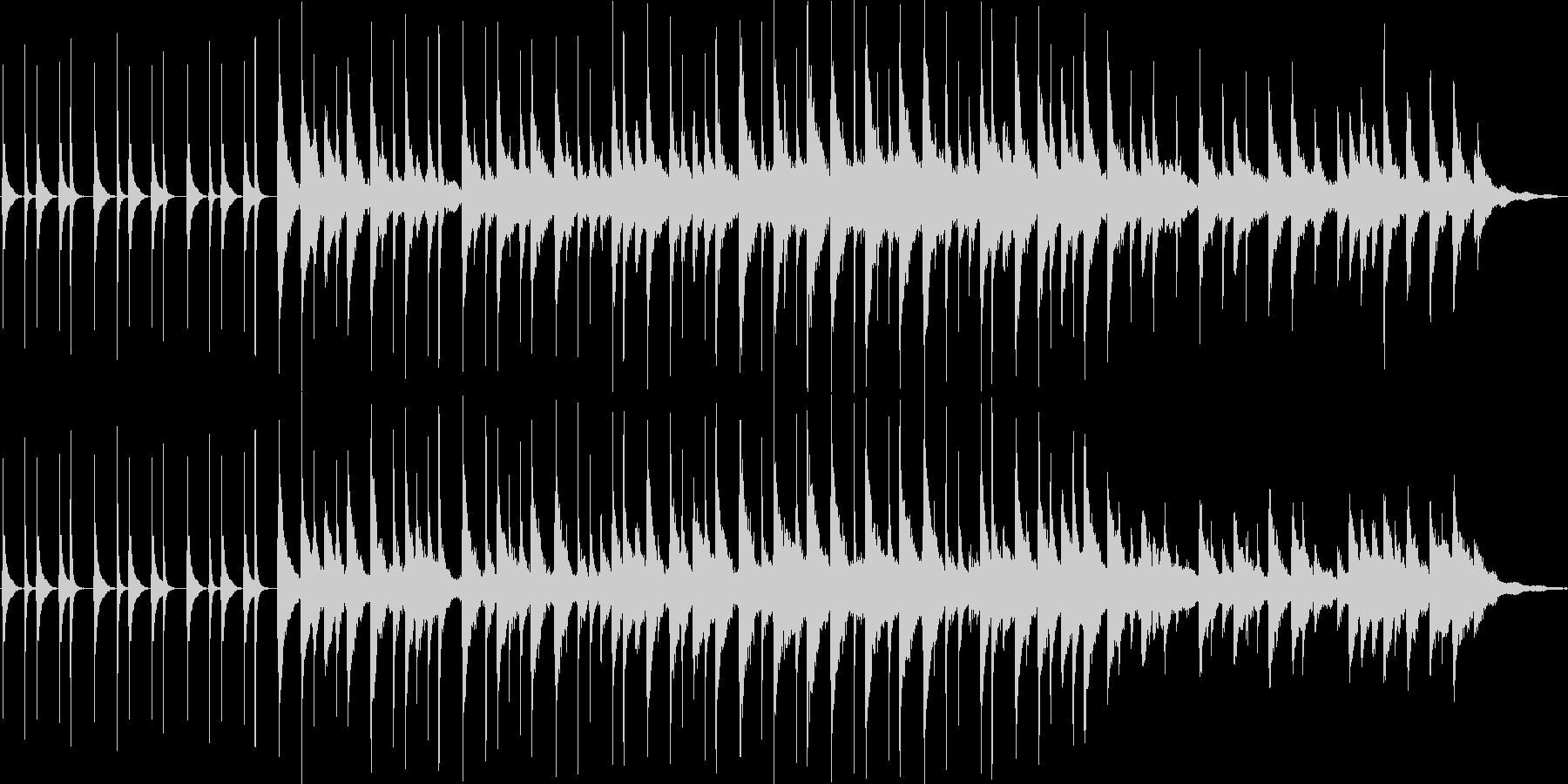 ほのぼの系CM用BGMの未再生の波形