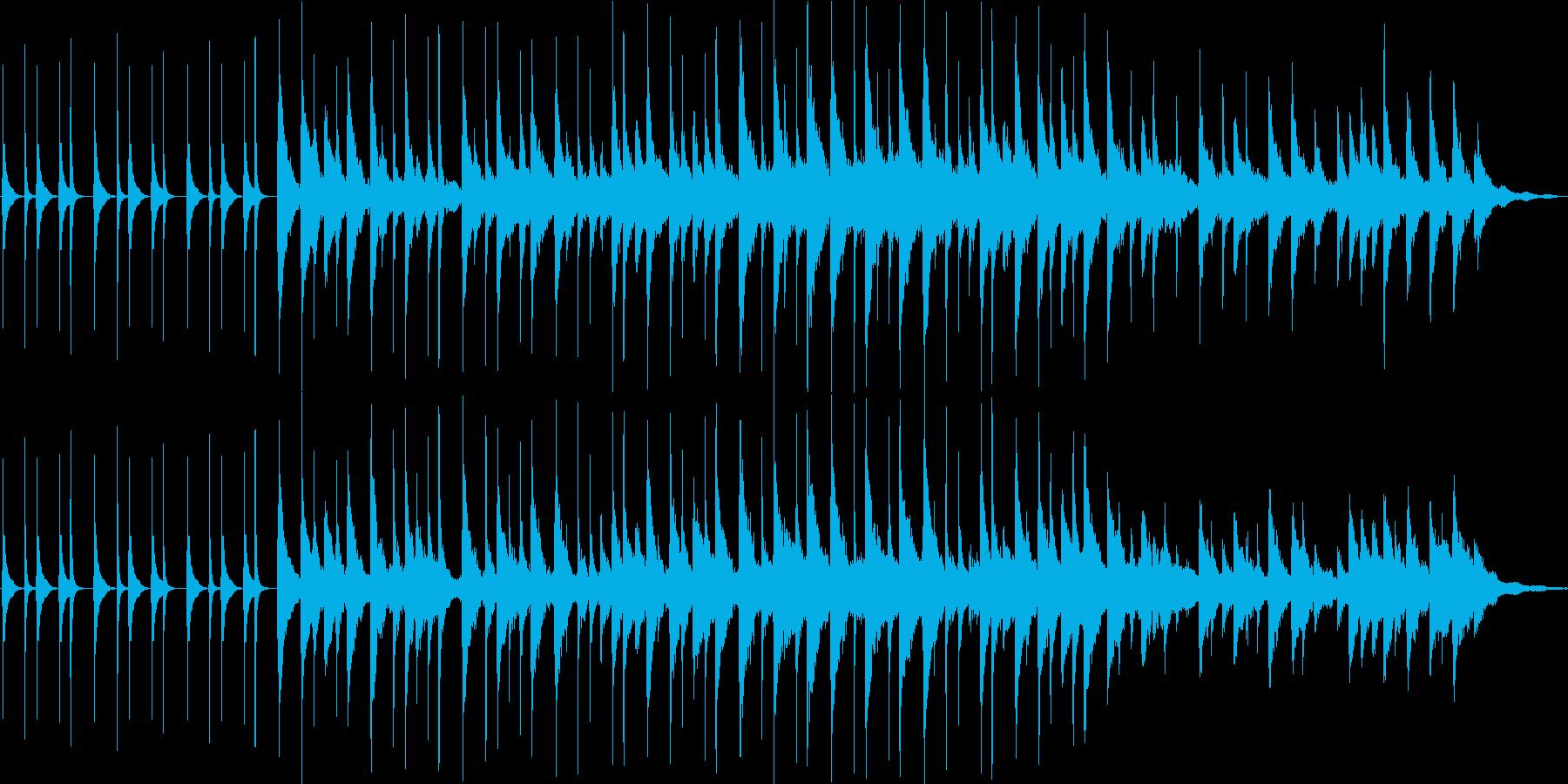 ほのぼの系CM用BGMの再生済みの波形