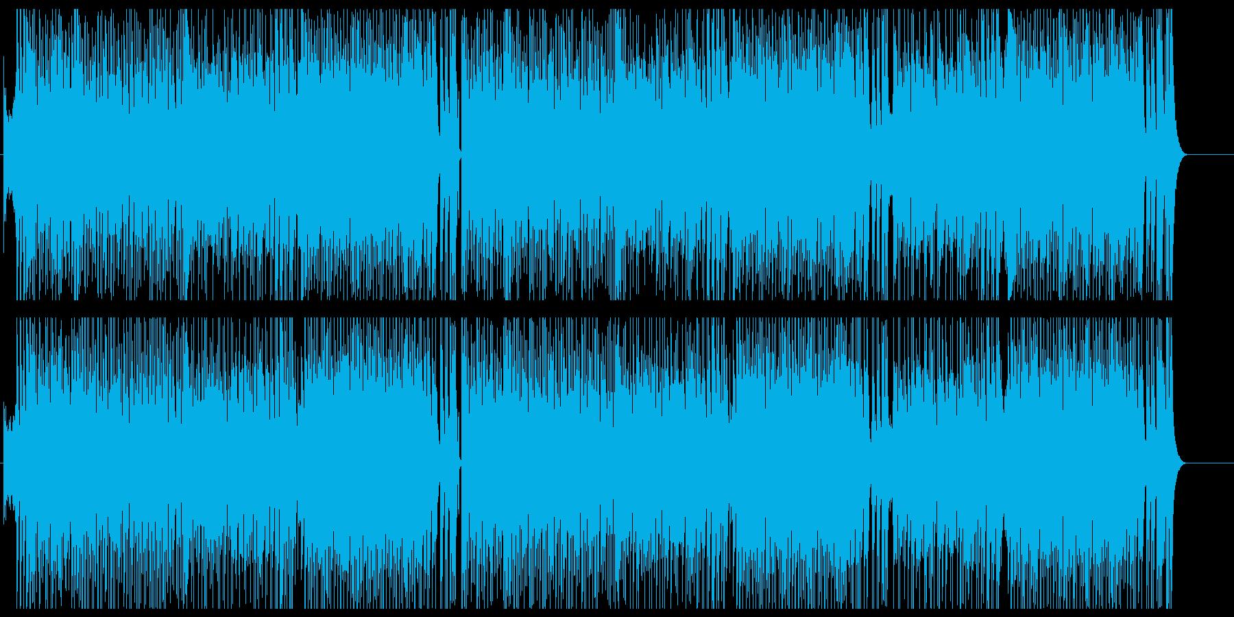 元気で慌ただしいテクノポップの再生済みの波形