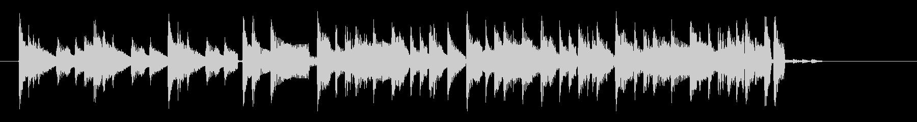 アコギによるクールなロックのジングル曲の未再生の波形