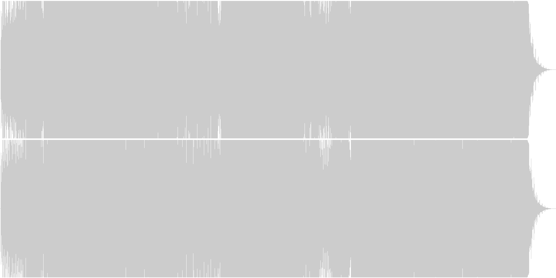 映像用トランス系浮遊感漂う爽やかEDMの未再生の波形