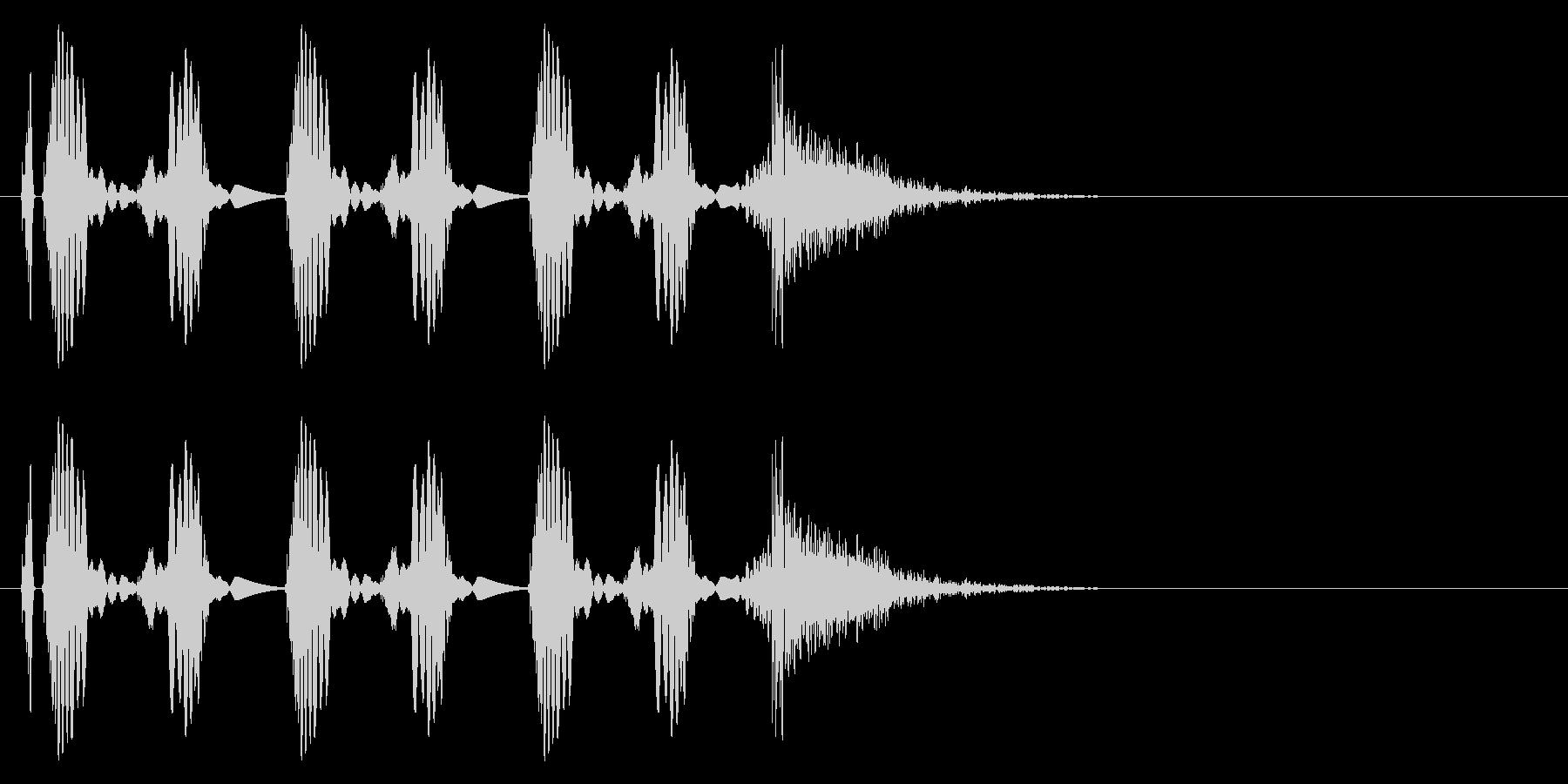 DJのスクラッチ。の未再生の波形