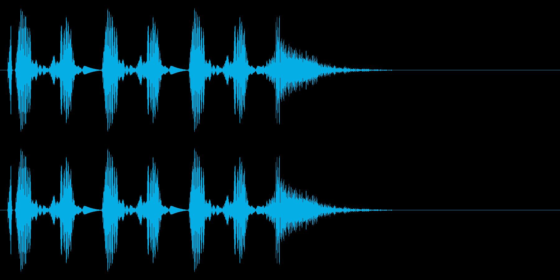 DJのスクラッチ。の再生済みの波形