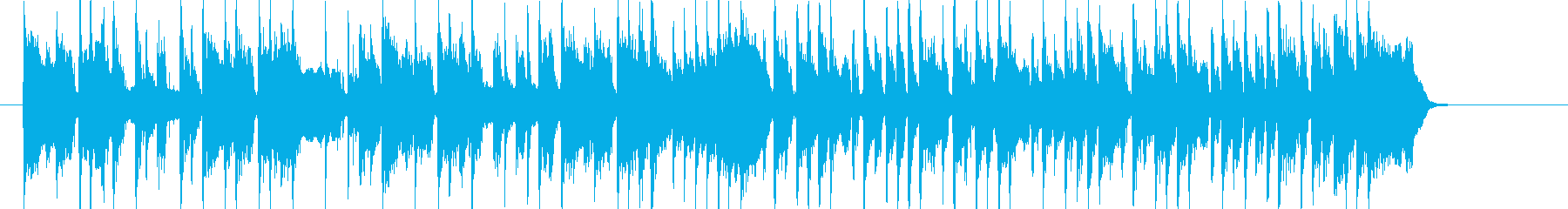 ポップなメロディのシンセミュージックの再生済みの波形