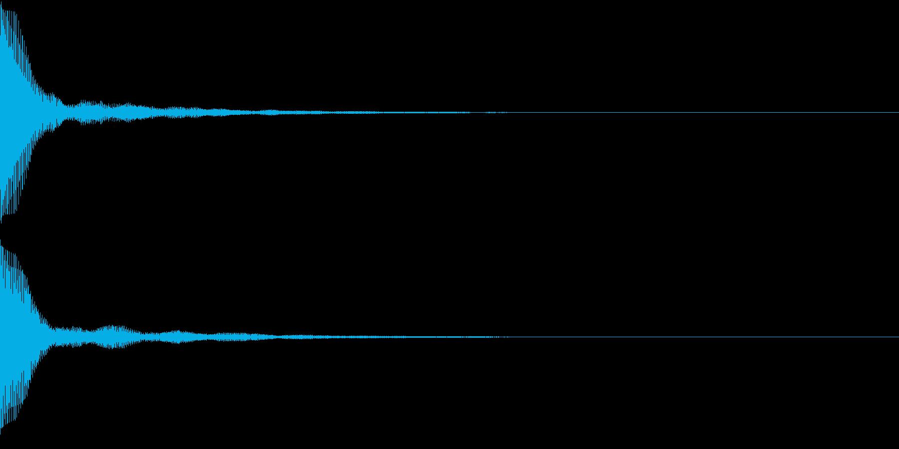 Push 汎用決定・セレクト音 4の再生済みの波形