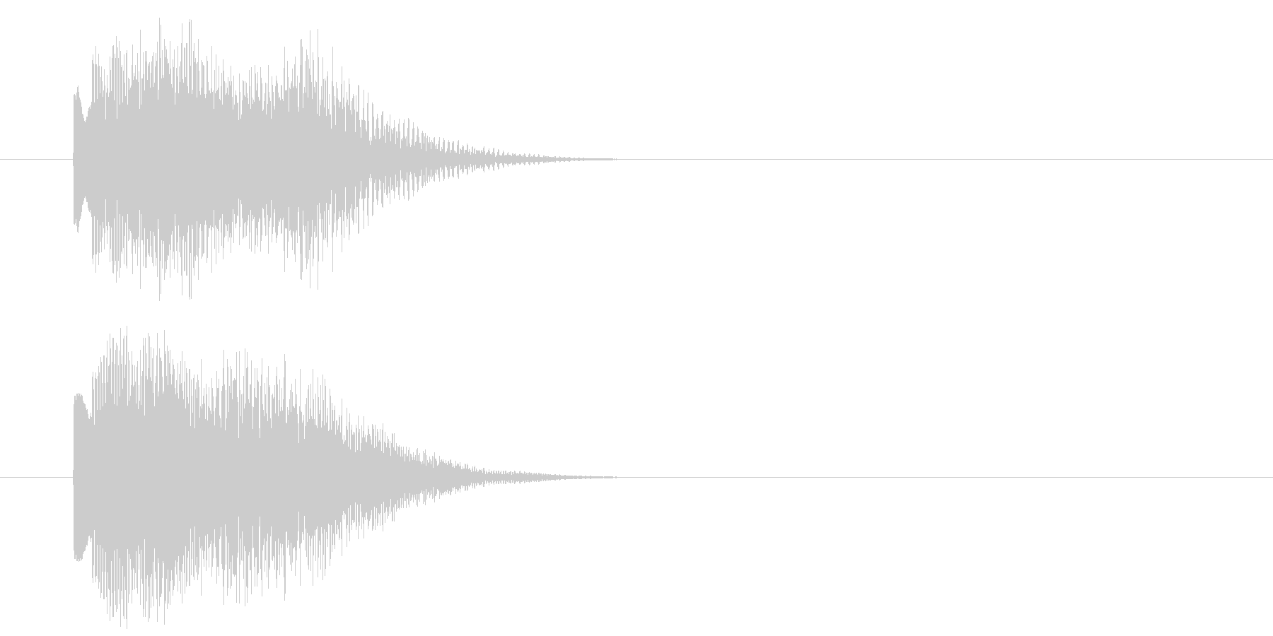 グリッサンド10 キラキラ(下降)の未再生の波形