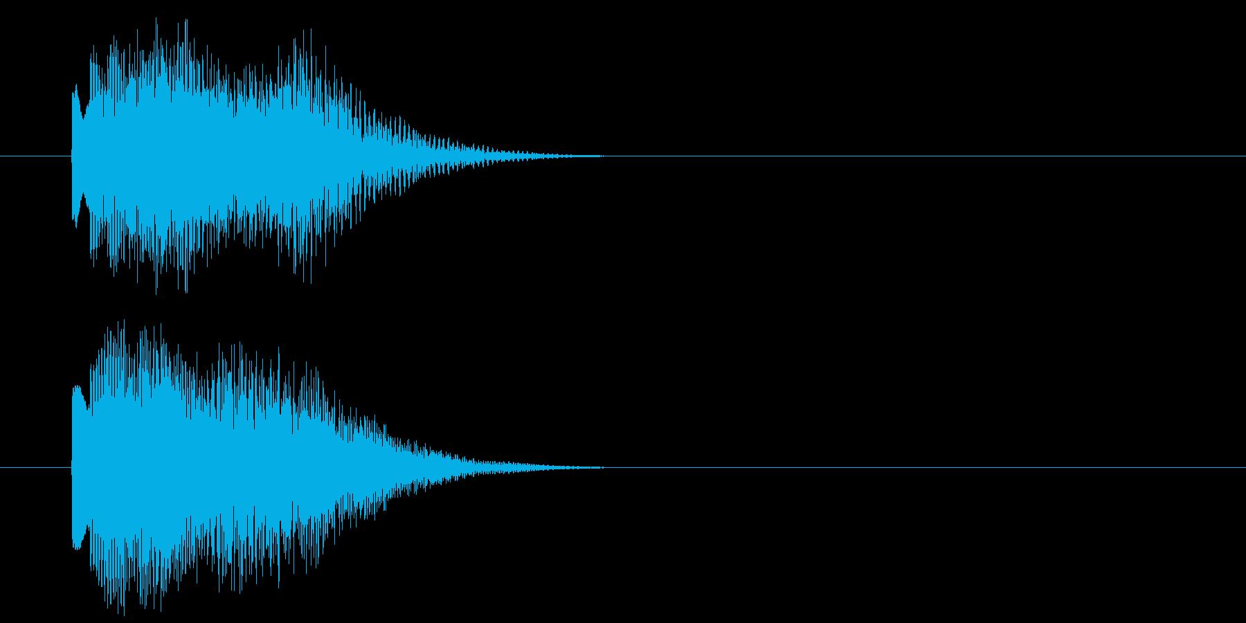 グリッサンド10 キラキラ(下降)の再生済みの波形