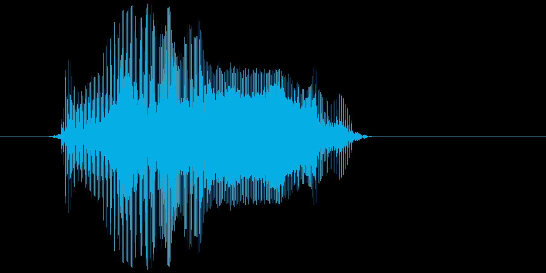 「イヤーン」の再生済みの波形