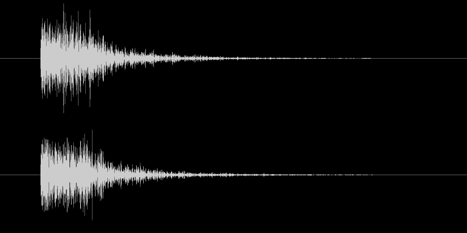 物音1(打撃系)の未再生の波形