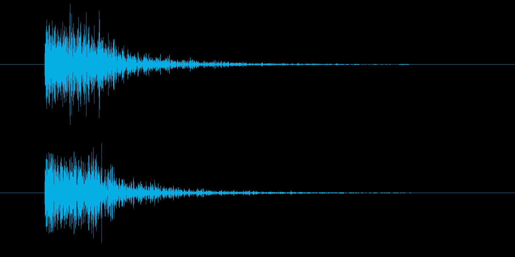 物音1(打撃系)の再生済みの波形