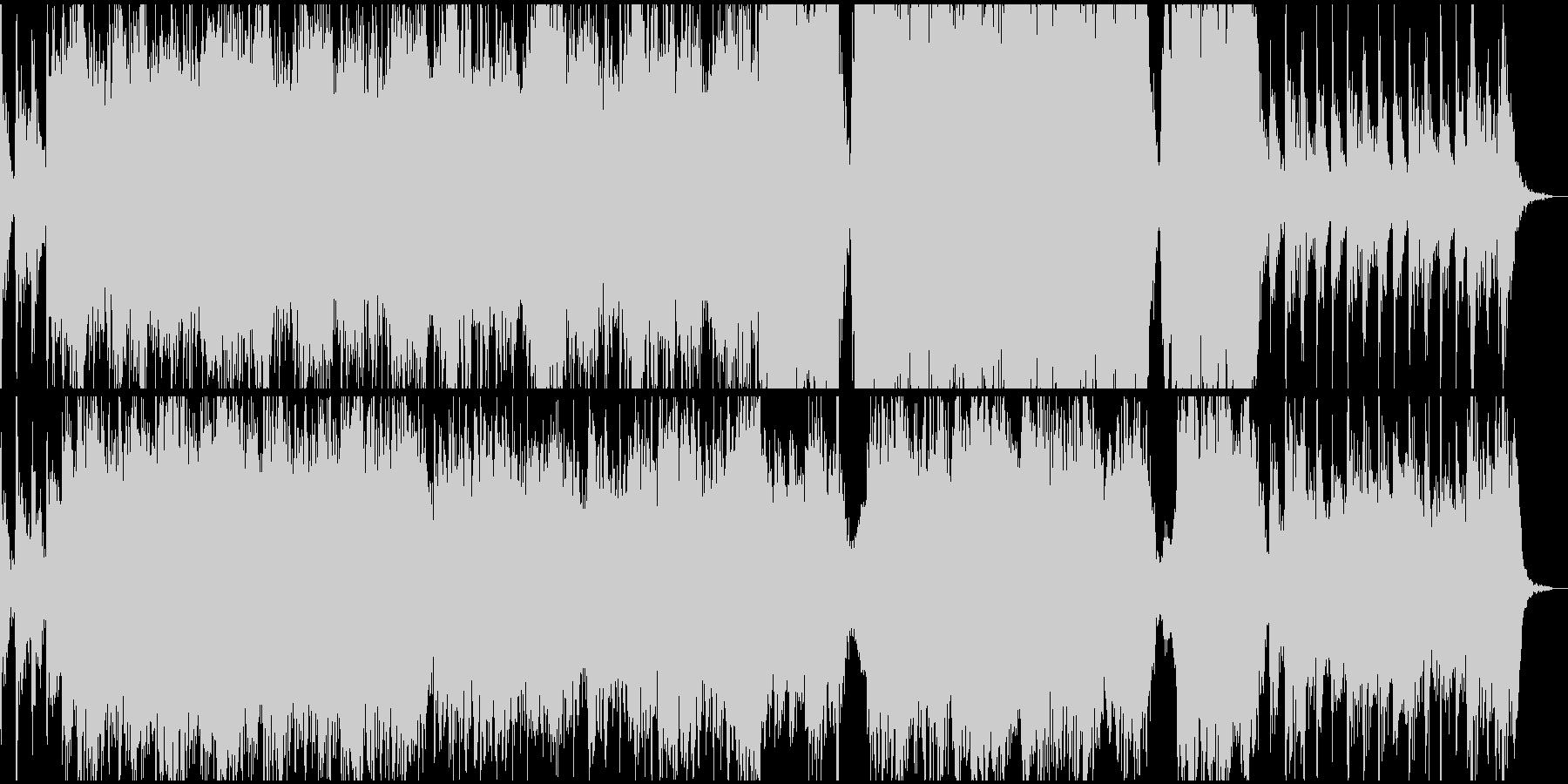重々しく壮大なオーケストラファンファーレの未再生の波形