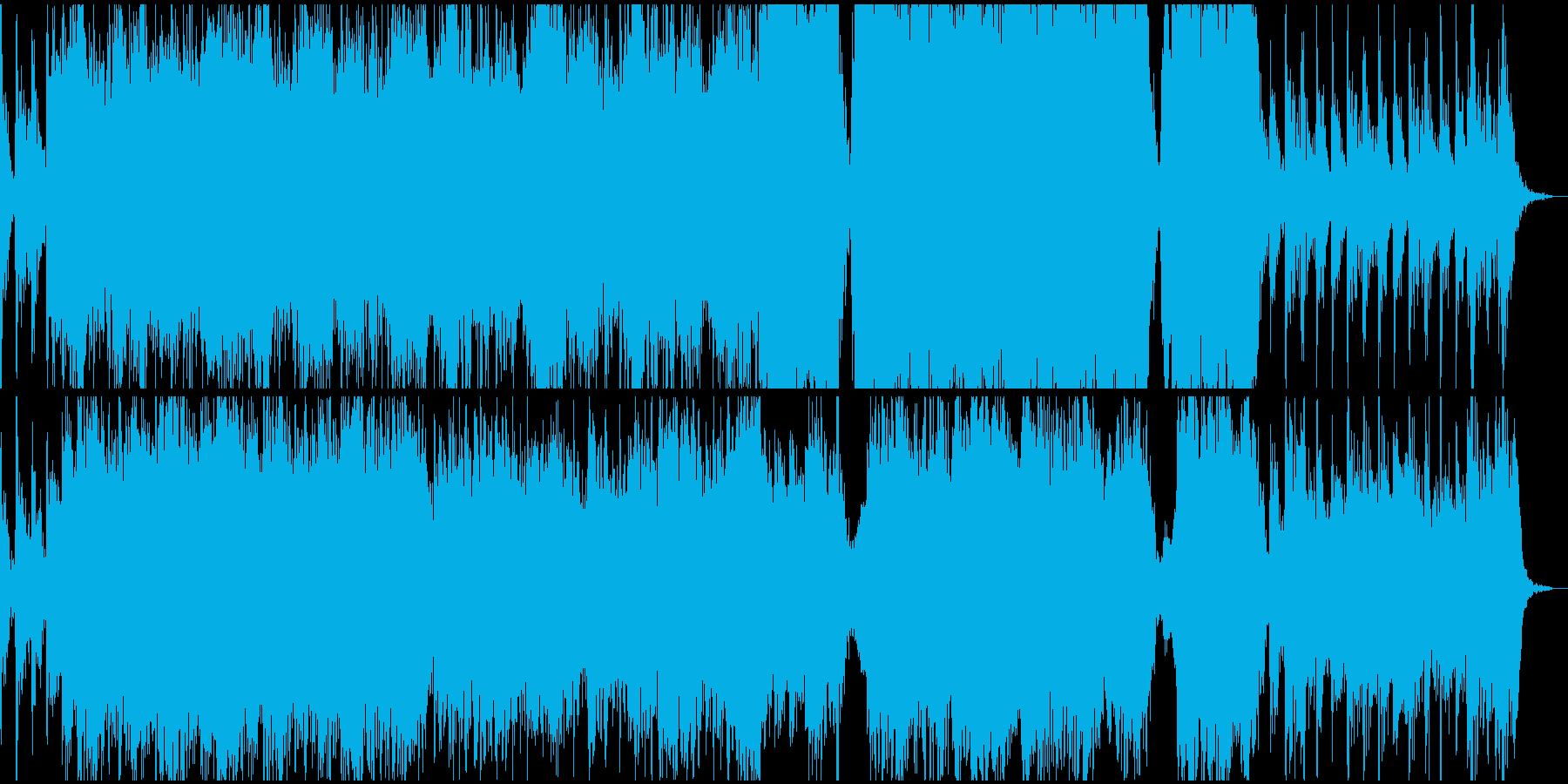 重々しく壮大なオーケストラファンファーレの再生済みの波形