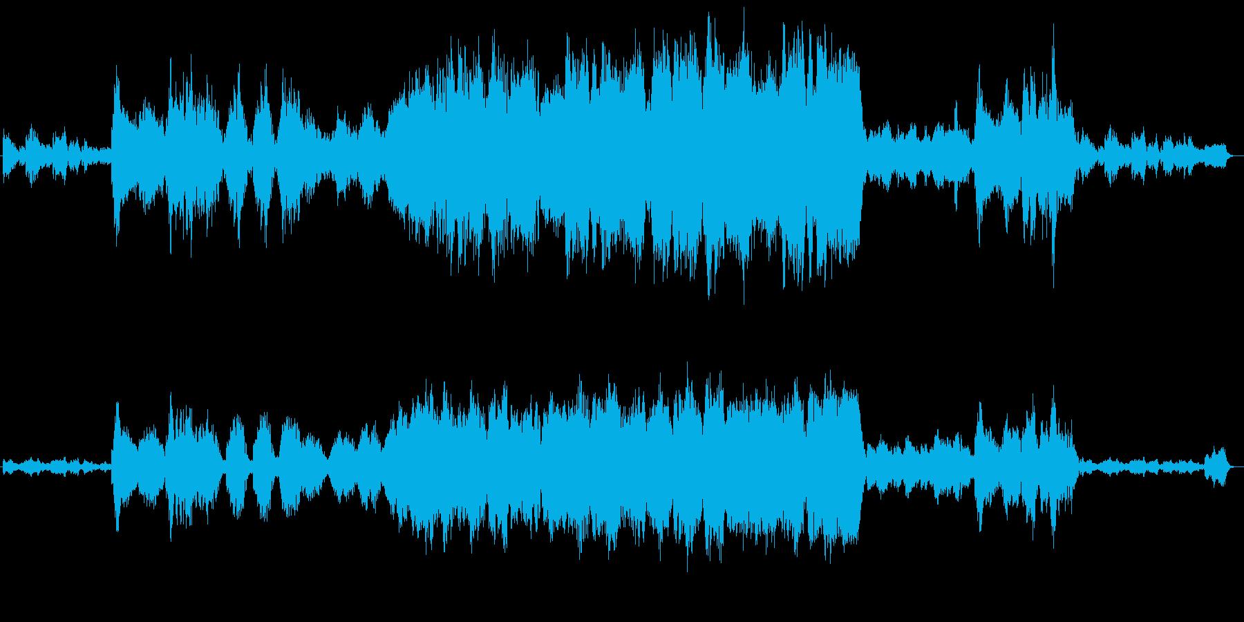 ほのぼのとしたオカリナ、ストリングスの再生済みの波形
