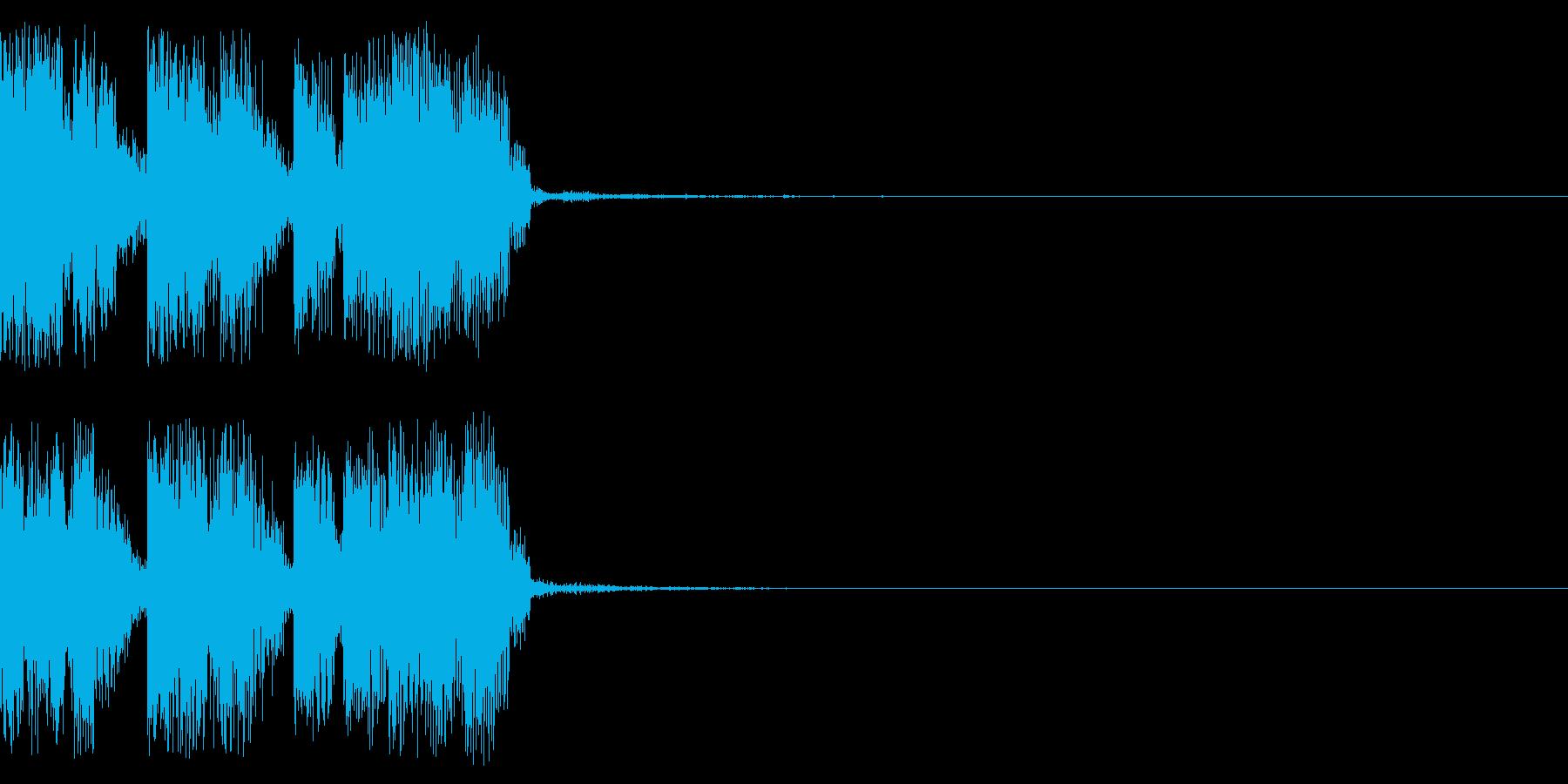 シーン変更時のサウンドの再生済みの波形