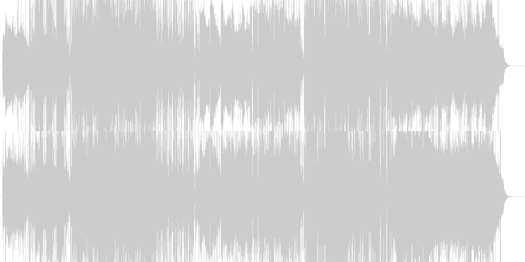 ポップなカワイイrockテイストな曲ですの未再生の波形