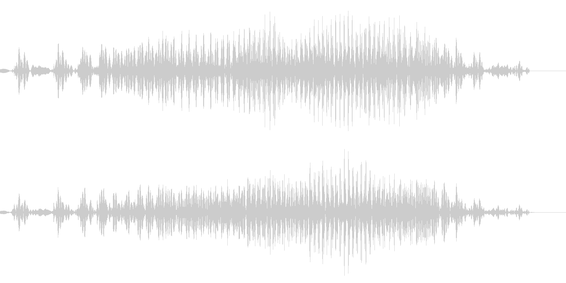 ジッパー/チャックの未再生の波形
