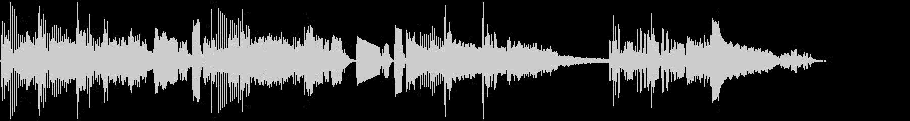 シンセサイザー シンプル ジングル の未再生の波形
