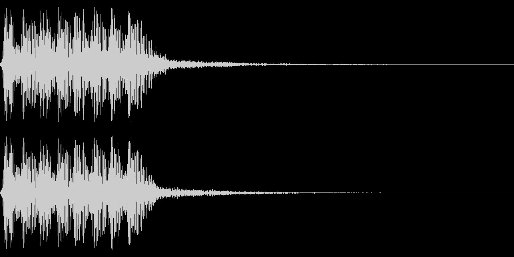 レトロなミス音 ゲームオーバー アラートの未再生の波形