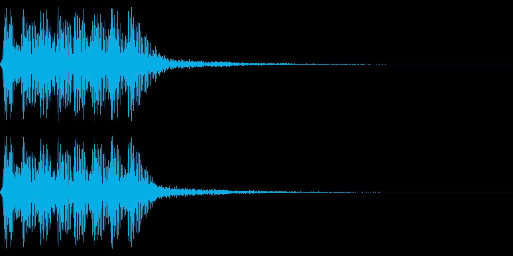 レトロなミス音 ゲームオーバー アラートの再生済みの波形