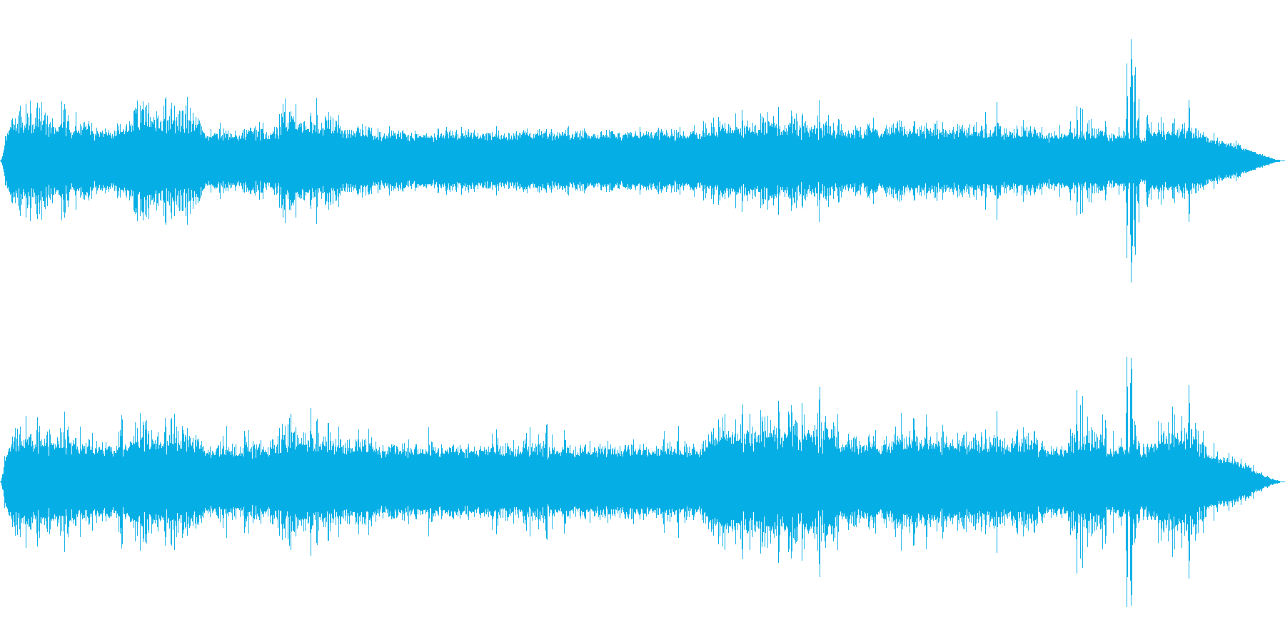 【自然音】川の流れる音02(軽井沢)の再生済みの波形