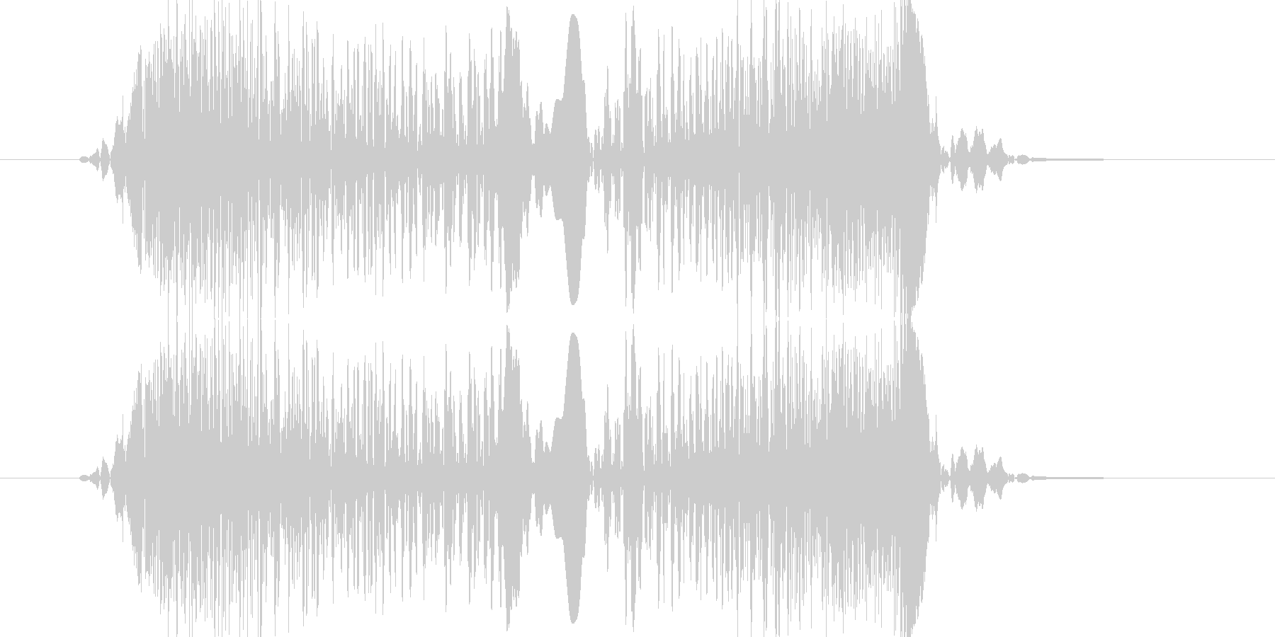 ズキュ(スクラッチ)の未再生の波形