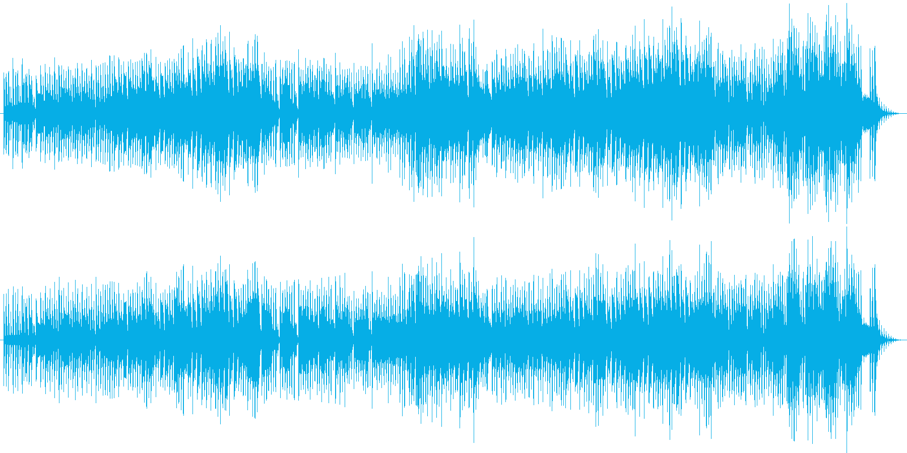 リズミカルで楽しいクリスマスBGMの再生済みの波形