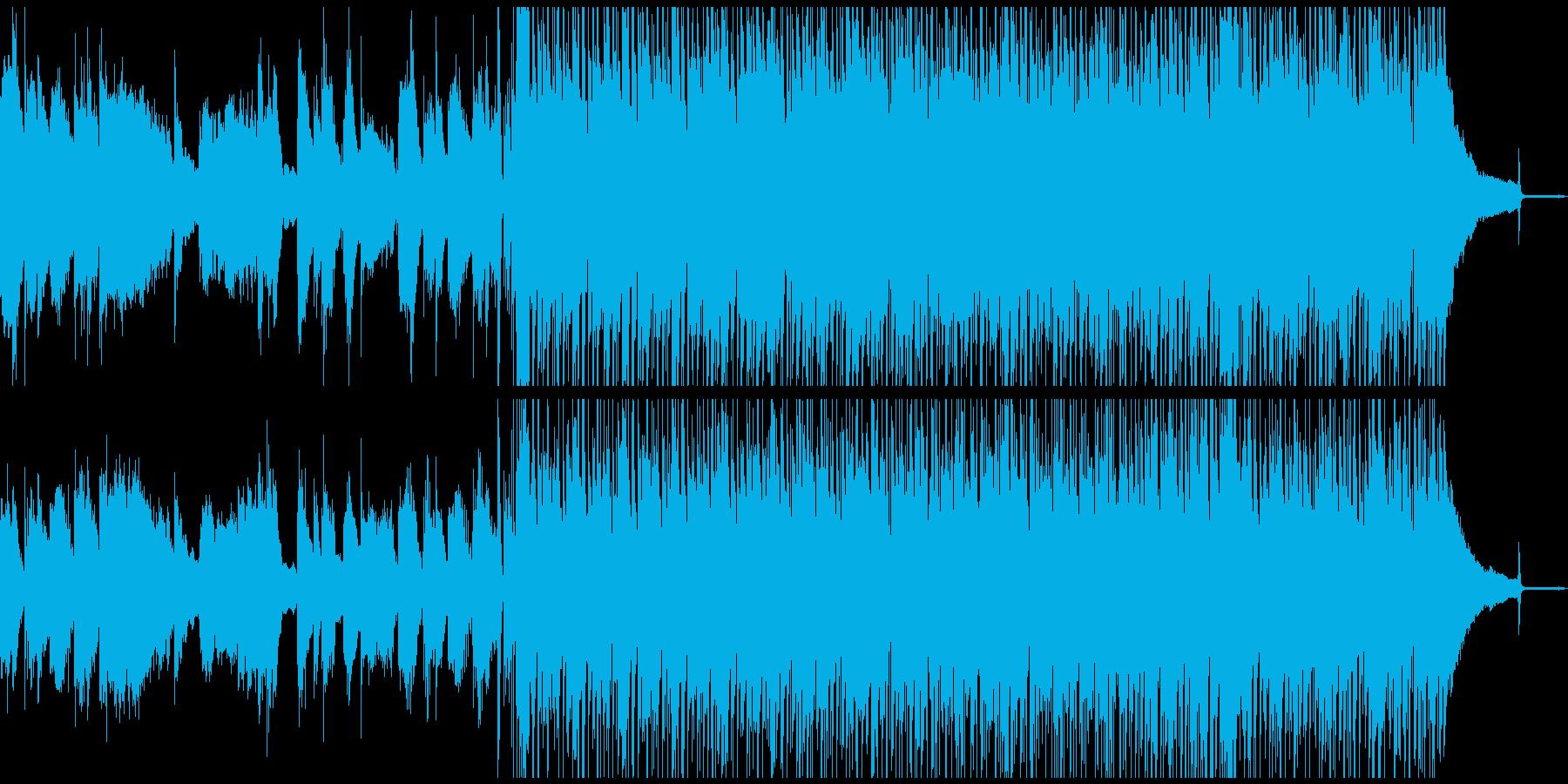 コンテンポラリーなピアノの爽やかBGMの再生済みの波形