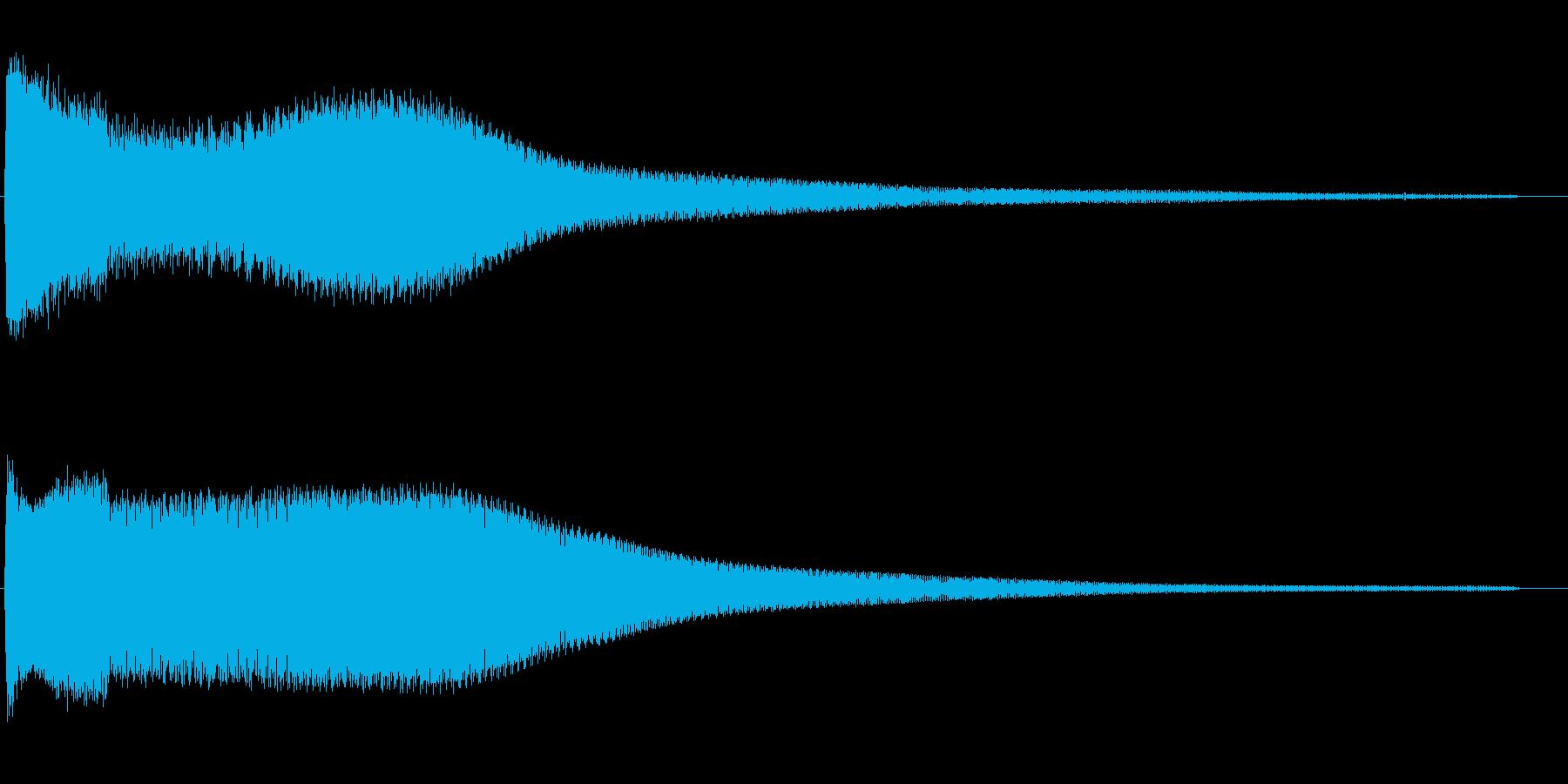 チンキューン(残念なとき)の再生済みの波形