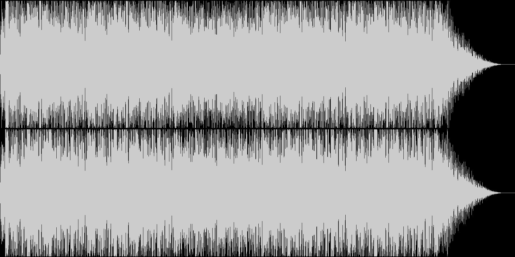 軽快なディスコ・ハウスの未再生の波形