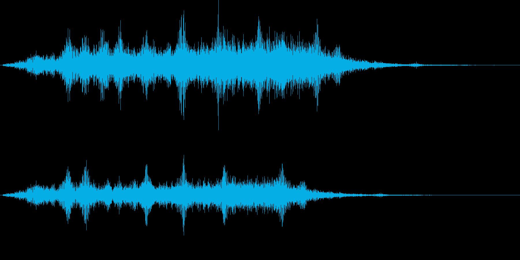 浮遊感のある展開音の再生済みの波形