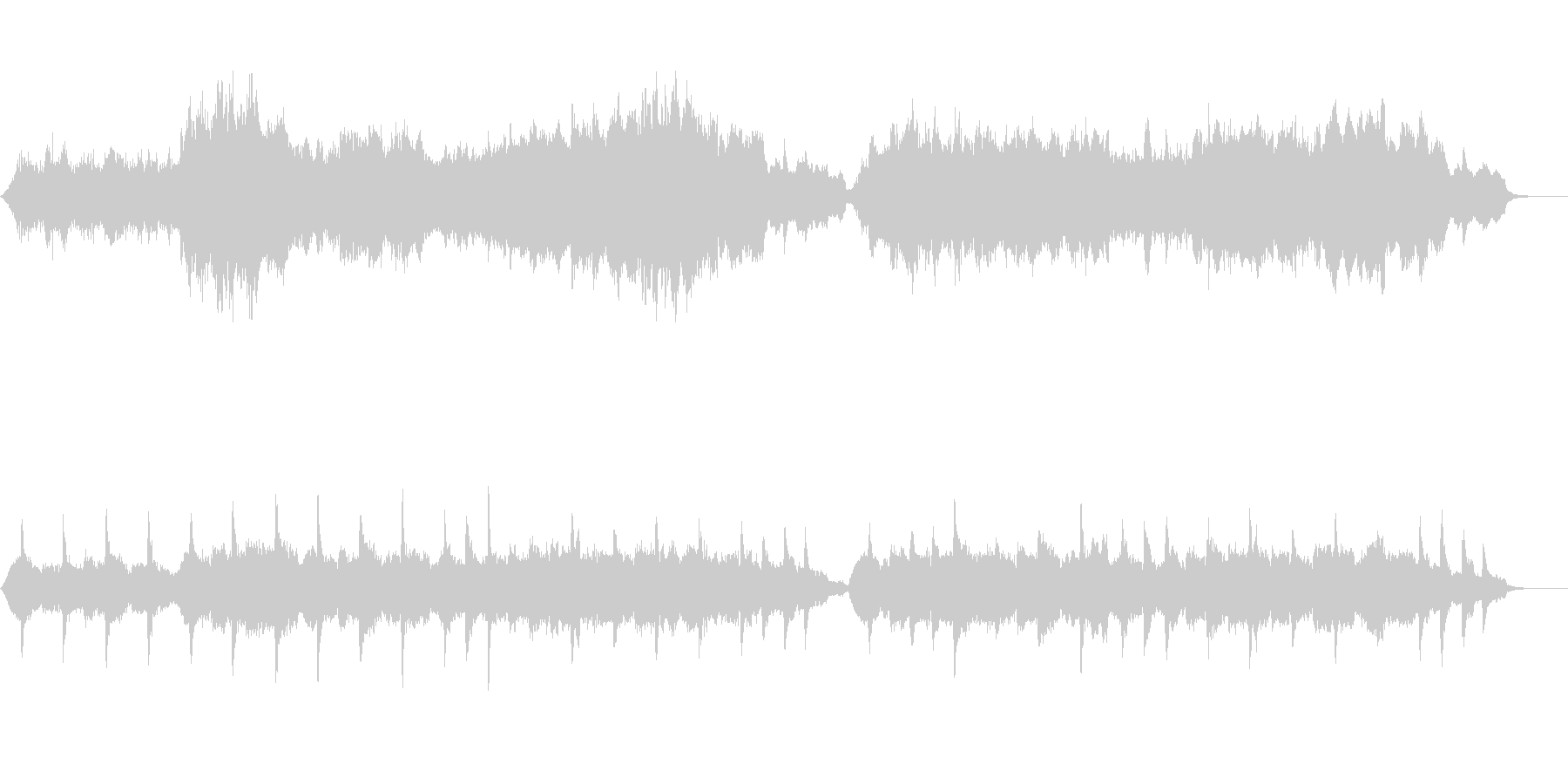 メジャー系のなぐさめのメロディ~弦楽奏~の未再生の波形