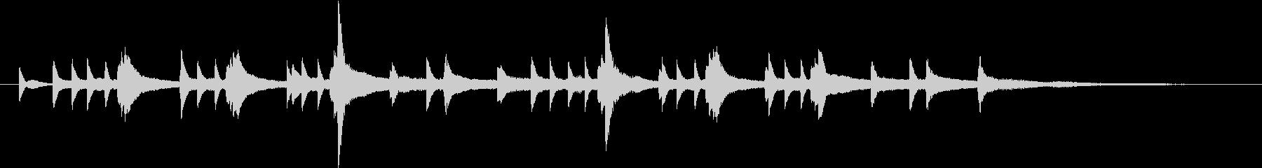 ピアノの綺麗なインストの未再生の波形